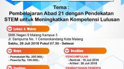 Ikuti & Hadiri Seminar Nasional Pendidikan ke-3 di SMKN 9 Malang